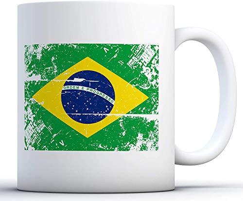 11 oz Koffie Mok, Thee Beker, Brazilië Vlag Koffie Mok Brazilië Mok Brazilië Voetbal 2018 Koffie Mok Braziliaanse Koffie Geschenken Brazilië Geschenken voor Koffie Liefhebbers Braziliaanse Voetbal Mok