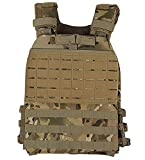 LAMAZING CAMO Camouflage Adjustable Weighted Vest with Shoulder Pads – Sports, Fitness, Crossfit,...