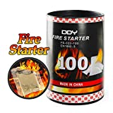 100 Pack Quick Fire Starters,Wax Cups Waterproof, Non Toxic Firelighter Natural Safe Cubes Burns up to 8 Min at over 750° - 100%, Perfect for Fat Wood Stove Campfire, Hiking Pit, Start Charcoal Kit