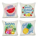 Zipper Design:Hidden zipper closure Great Gift: for holiday decor PREMIUM Material: durable Printing:The pattern is only on the front side Package Includes: 4PCS 20x20 Cushion Pillow Covers, No Insert or Filler