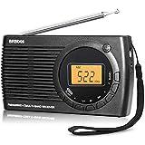WFGZQ Radio Digital Portátil, Radio De Bolsillo Am FM SW, Mini Radio De Transistores Personal con Altavoz, Pantalla LED, Reloj Despertador, Excelente Recepción