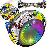 """Magic Vida Hoverboard - 6,5"""" - Bluetooth - Moteur 700 W - Vitesse 15 km/h - LED - Skateboard Électrique Auto-Équilibré - Pour enfants et adultes - Hiphop"""