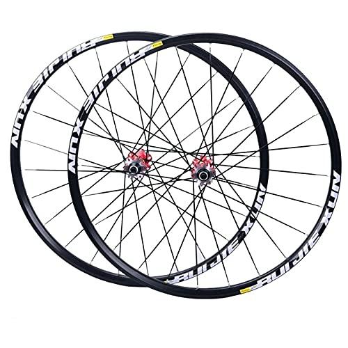 Juego de ruedas de bicicleta de montaña Buje de fibra de carbono de 26 / 27.5 / 29 pulgadas Ruedas de bicicleta MTB Llantas de doble pared Frenos de disco Rodamientos sellados 8/9/10/11 velocidades