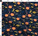 Blumen, Mohn, marineblau, Mohn, Ringelblume, rosa, dunkel