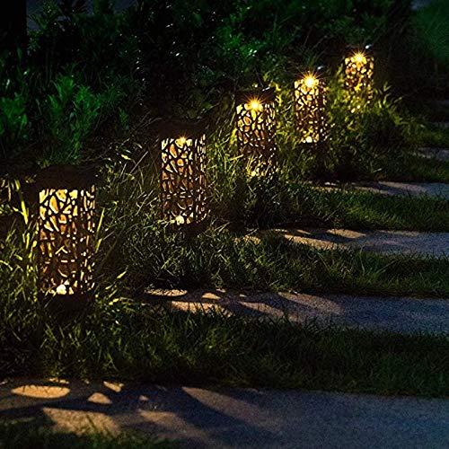 Luces solares para caminos al aire libre, jardín, camino, LED, resistente al agua, luz de paisaje, luz de camino, luces solares brillantes, luz de paisaje, luz negra resistente al agua, 4 unidades