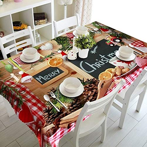 La fiesta de cumpleaños de boda 1pcs 3D Mantel Bouquet Tabla Mantel Mantel árbol de navidad cena for la decoración casera Restaurante Fiesta Cena Exterior Blanco