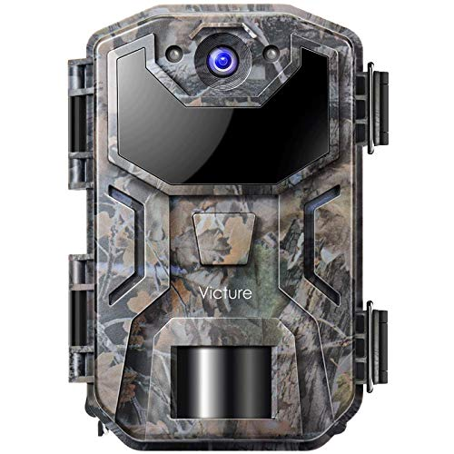 Victure Cámara de Caza Vigilancia 20MP 1080P con Diseño Impermeable IP66 Cámara de Fototrampeo con Detección de Acción LED IR Sin Brillo para Fauna Seguridad Hogar Mascota Animal