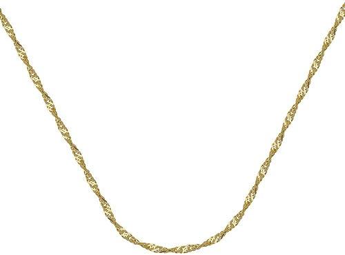 alta calidad general 14ct oro amarillo Collar de cadena de Singapur, 1,7mm 1,7mm 1,7mm cierre de pinza de langosta opciones de longitud  41465161  muchas sorpresas