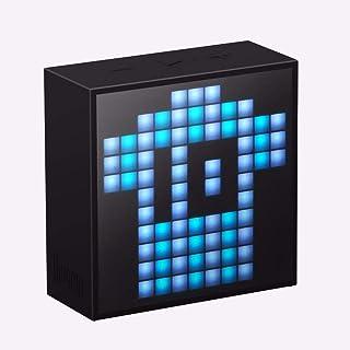 Divoom Timebox Mini Portable Bluetooth Speaker With Pixel Art, Sleepaid Smart Alarm Clock App Programmable Features - Blac...