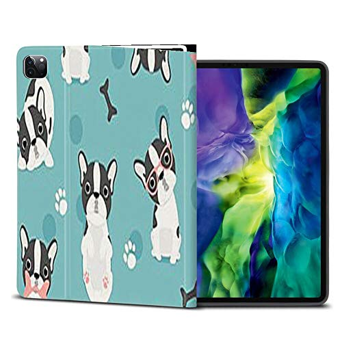 iPad Pro 11 Case 2nd 2020 Stand Folio Case Cover French Poodle Printed Compatible with Apple Pencil Auto Sleep Wake for iPad Pro 11 Inch 2020 2nd
