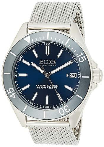 Hugo BOSS Unisex Analog Quarz Uhr mit Edelstahl Armband 1513571