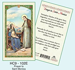 St. Monica Laminated Prayer Cards - Pack of 25 - HC9-102E