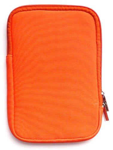 Emartbuy® Orange Wasserabweisende Weiche Neopren Hülle Schutzhülle Sleeve Hülle mit Reißverschluss geeignet für Msi Windpad 100W Tablet (10-11 Zoll eReader/Tablet / Netbook)