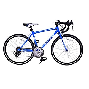 Road Bikes Ammaco VELOCITY JUNIOR 14 SPEED RACING ROAD SPORTS BIKE 24″ WHEEL BLUE AGE 9+ [tag]