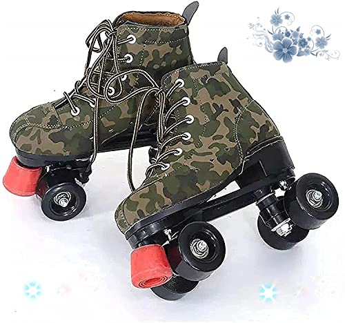 Camouflage Rollers Girl, 34-45 Disco Scooter, Abec-7 Stock Rollerskates, mujer muy guay, damas, negro, 38