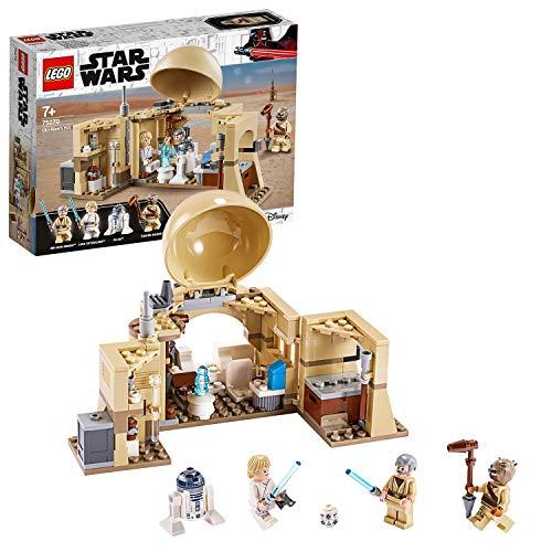 LEGO Star Wars - Cabaña de Obi-Wan, con Techo Desplegable, Incluye un Droide y Holograma de la Princesa Leia, Minifiguras de Obi-Wan Kenobi, Luke Skywalker y R2-D2 (75270)