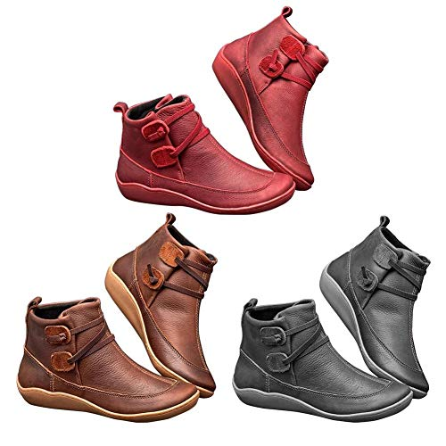 Bloomma 2019 New Damen Geflochtene Riemen Flache Ferse Senkfusseinlage Stiefel wasserdichte Schuhe für Strand Indoor-und Outdoor-Reisen-