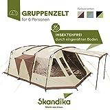 skandika Nordland - 6 Personas - Tienda de campaña Familiar/Grupos - túnel - Suelo bañera - mosquiteras (Gris/Verde)