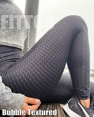 Fashion Shopping FITTOO Womens High Waisted Yoga Pants Tummy Control Scrunched Booty Leggings Workout