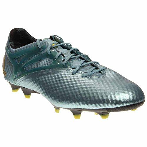 adidas Mens Messi 15.1 FG/AG Firm Ground/Artificial Grass Soccer Cleats 10 US, Matte Ice Metallic