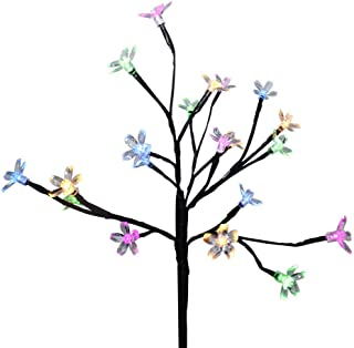 Wearefo Solar Lights Flower LED Tree Branch Lights Floral Multi-Color Lights Decorative Lamps for Home Christmas Party Garden Patio Decor 20 Lights Outdoor Solar Garden Stake Lights