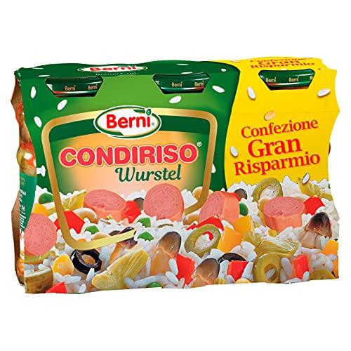 Berni Condiriso Wurstel Conserva Condimento per Riso Freddo e Insalate - 3 Vasetti da 285g