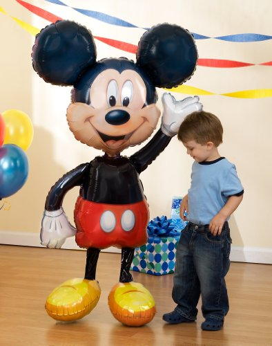 "Mickey Mouse Airwalker 52"" Inch Jumbo Foil Mylar Birthday Balloon"