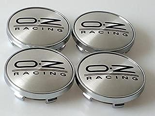 4 tapas de centro de rueda, cubo de aleación 60mm, tapones para carreras, color plateado/negro.