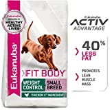 Eukanuba Fit Body Weight Control Small Breed Dry Dog Food, 15-Pound
