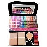 PragatiOnn -TYA 590 Makeup Kit With 48 Eyeshadow 4 Compact {2 Matt} {2 Shimmer} 3 blush 6 LIPISTICK With Brushes