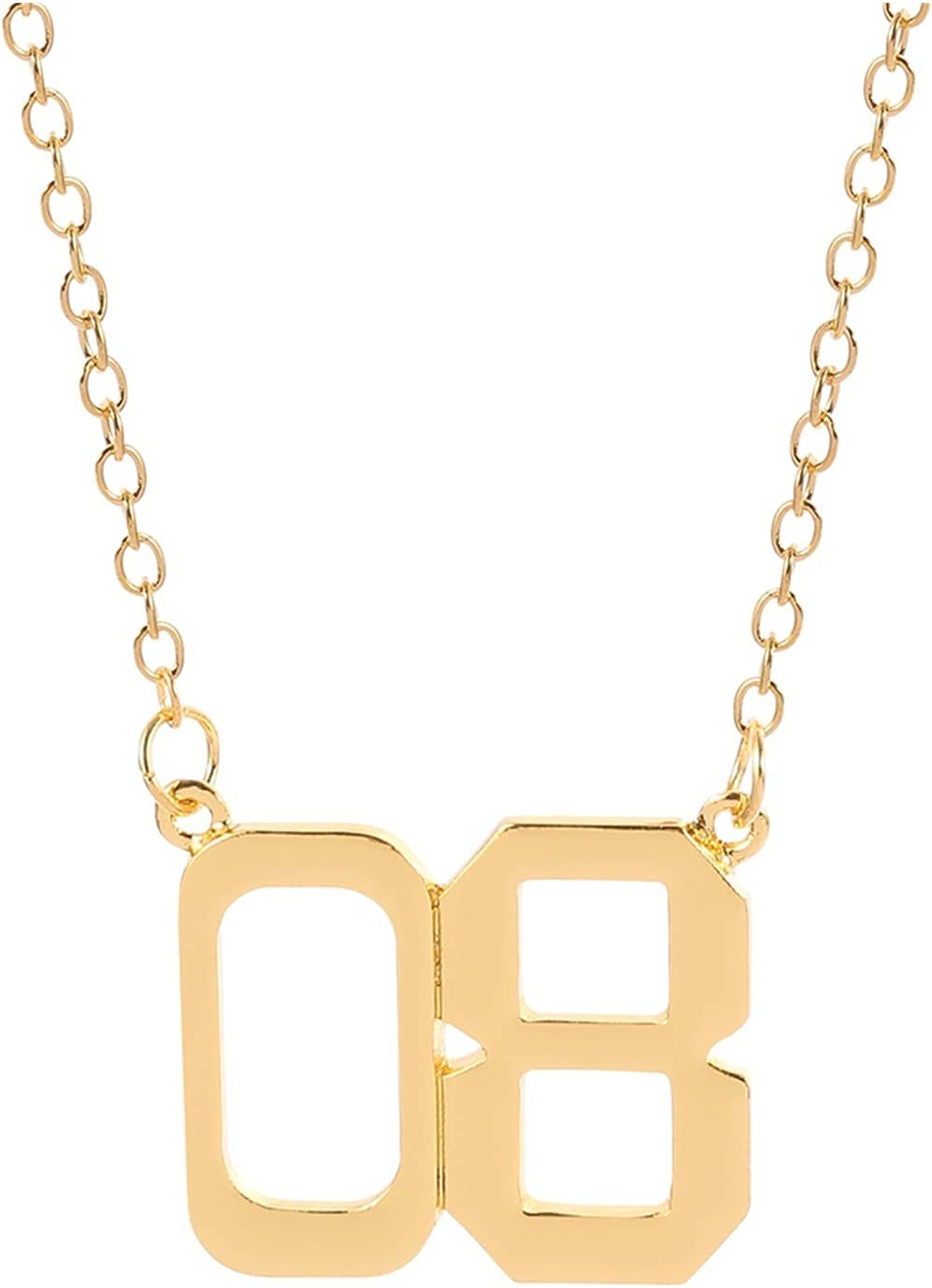 JIAQ Stranger Things Number 08 011 Necklace Gold Color for Man Women Movie Fans Necklace Charm Collar Classic Jewelry Clavicle Chain (Metal Color : XL2258)