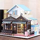 Taoke DIY Haus DIY Puppenstuben Gravierzeit 30 * 9 * 27cm Mit Möbel Licht-Musik-Abdeckung Geschenk-Dekor-Kollektion One Size Puppenstuben Miniatur (Farbe: Mehrfarbig, Größe: Eine Größe) 8bayfa