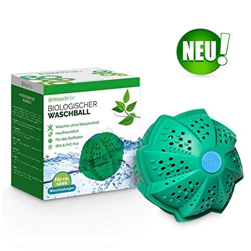WASCHKLAR® Öko Waschball für die Waschmaschine | Eco Waschkugel zum Waschen ohne Waschmittel | Allergiker- und umweltfreundlich | antibakteriell & BPA Frei