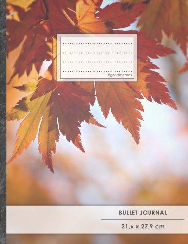 "Bullet Journal • A4-Format, 100+ Seiten, Soft Cover, Register, ""Herbstblätter"" • Original #GoodMemos Dot Grid Notebook • Perfekt als Tagebuch, Zeichenbuch, Kalligraphie Buch"