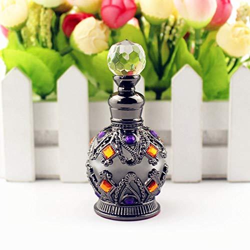 MZY1188 1PC 15ml Botellas de Perfume de Metal, Botella de Perfume Vintage Aceites Esenciales Cuentagotas Contenedor de Botella Accesorios para fragancias para el hogar