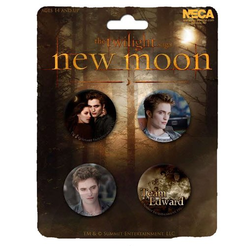 "Neca – 21390 – Twilight – Set mit 4 Abzeichen ""Edward, Bella & Team Set"""
