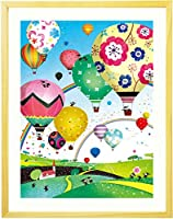 プレゼント 新築祝い 入学祝い 誕生日 絵画アート 「どこまでも どこまでも」 【名前入れ可・Mサイズ】 娘 20歳 10歳 卒業祝い 先生 ギフト 娘 記念品 人気