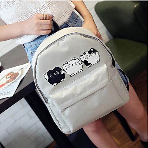 ZWHBB rugzak Dubbele rug canvas schoudertas vrouwelijke tas Japanse en Koreaanse versie van de tas reizen rugzak campus college wind kleine verse