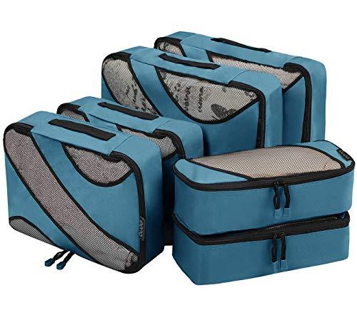 Eono by Amazon - Packing Cubes Travel Luggage Organizers Suitcase Organizer Packing Organizers, 6 Set (2L+2M+2Slim), Dark Blue