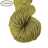 Lotus Yarns 100% Bamboo Yarn Hand Knitting Yarn 5X50g Hanks (09)