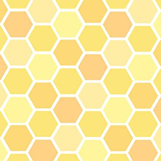 GRAPHICS & MORE Yellow Honeycomb Pattern Premium Roll Gift Wrap Wrapping Paper