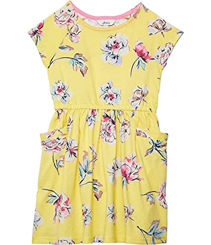 Joules Jude Vestito Casual, Yellow Floral, 9/10/2020 Bambina