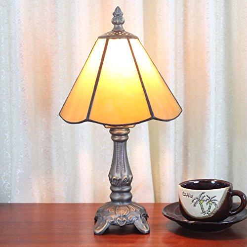 HDO 6 Zoll Gelb Einfache Art Pastoral Minimalist Tiffany Stil Tischlampe Nachttisch Lampe Schreibtisch Lampe Wohnzimmer Bar Lampe
