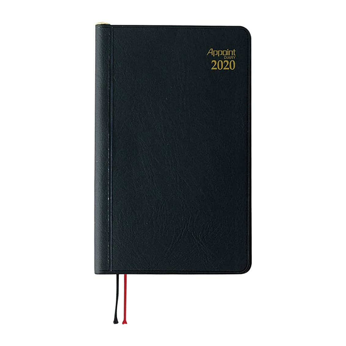 架空の代理人落花生ダイゴー 手帳 2020年 アポイント マンスリー ウィークリー 鉛筆付 黒 E1002 2019年 12月始まり