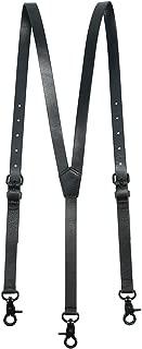 Branded Leather Suspenders