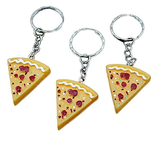 Pizza Pendant Key Chain - CINRA 10pcs Pizza Pendant Key Chain Keyring Key Holder Key Buckle Purse Bag Charm Key Jewelry Chic Accessories Ornaments