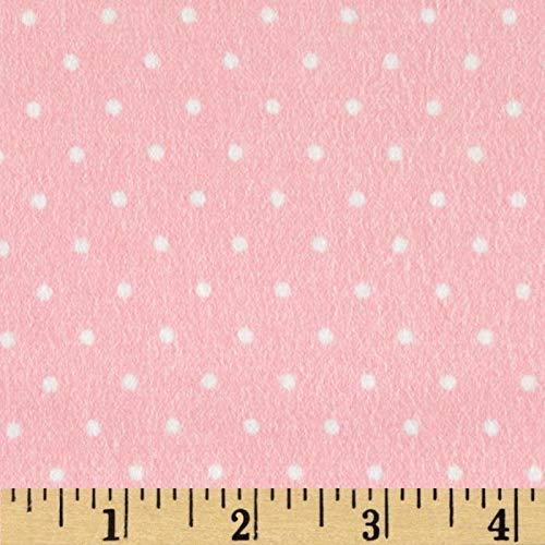 Robert Kaufman Kaufman Cozy Cotton Flannel Dots Silver Fabric By The Yard
