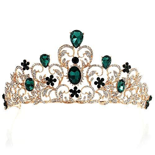 Wehugonua Dames Prachtig mooie strass diadeem kroon hoofdband sieraden accessoires haaraccessoires prinses kroon bruidskapsel prinses kroon bruiloft