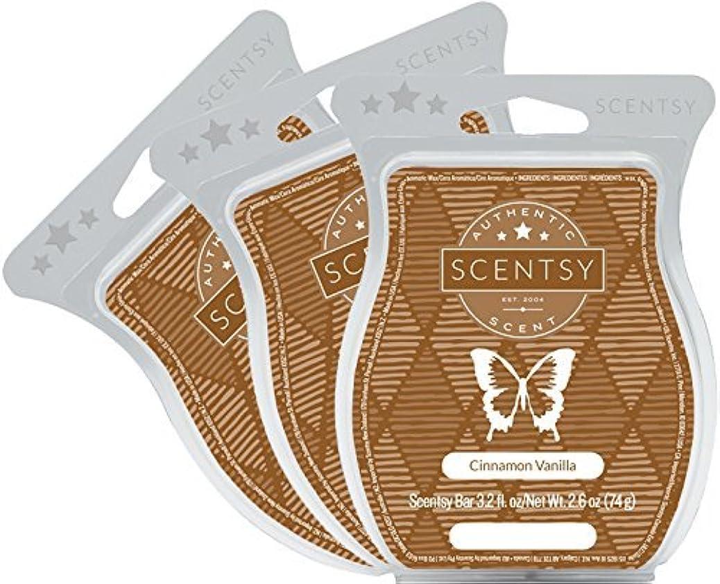 Scentsy, Cinnamon Vanilla, Wickless Candle Tart Warmer Wax 3.2 Oz Bar, 3-pack (3) thpuizninq