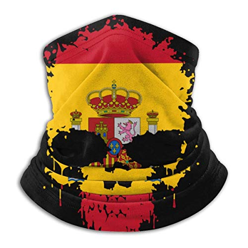 XCNGG Máscara Facial de Calavera con Bandera de España para Hombres y Mujeres, Polaina de Cuello sin Costuras para Festivales Deportivos al Aire Libre